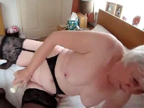 Old Granny  with vibrator