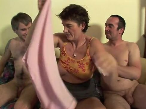 Granny fuck by two hard cocks